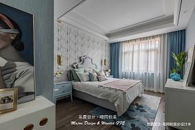 质朴48平美式复式卧室效果图片大全