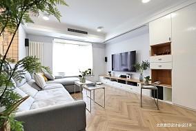 温馨78平北欧二居客厅效果图欣赏客厅北欧极简设计图片赏析