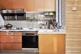 华丽89平中式三居厨房装修效果图餐厅中式现代设计图片赏析