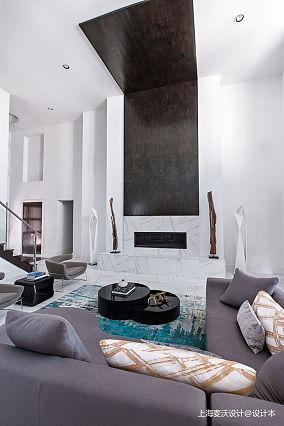 轻奢60平北欧复式客厅装修美图复式北欧极简家装装修案例效果图