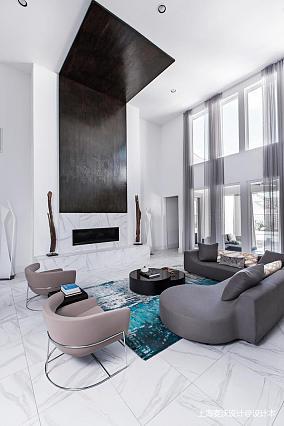 优雅52平北欧复式客厅装修图片复式北欧极简家装装修案例效果图