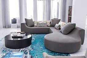 优雅46平北欧复式客厅案例图复式北欧极简家装装修案例效果图