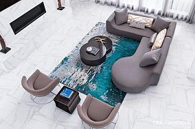 悠雅66平北欧复式客厅装饰美图复式北欧极简家装装修案例效果图