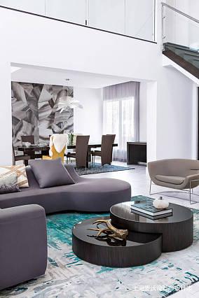 平北欧复式客厅实拍图复式北欧极简家装装修案例效果图