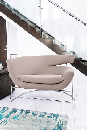 轻奢77平北欧复式客厅设计案例复式北欧极简家装装修案例效果图