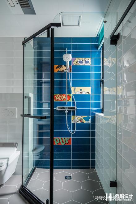 精致50平混搭二居卫生间设计图卫生间