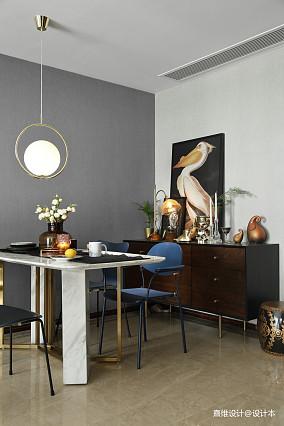 质朴117平混搭三居餐厅装修设计图厨房潮流混搭设计图片赏析