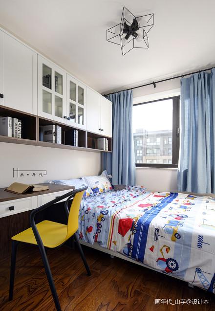 简洁113平现代三居卧室图片欣赏卧室