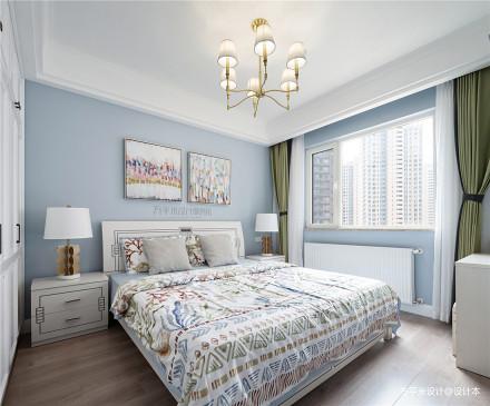 典雅93平北欧三居卧室图片欣赏卧室