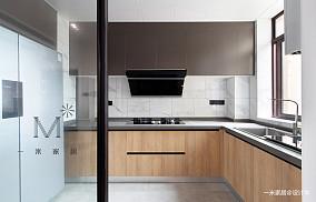 温馨122平现代三居厨房案例图