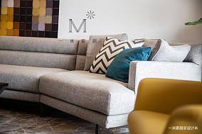 优雅103平现代三居布置图三居现代简约家装装修案例效果图