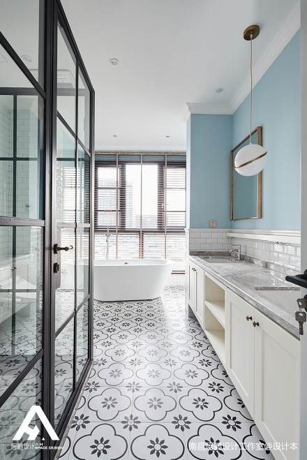 温馨80平混搭复式卫生间设计案例卫生间