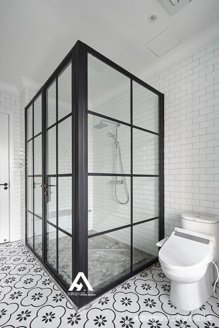 精致59平混搭复式卫生间装修设计图卫生间