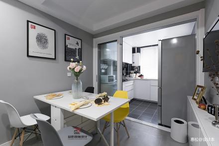 质朴115平北欧三居餐厅设计效果图厨房