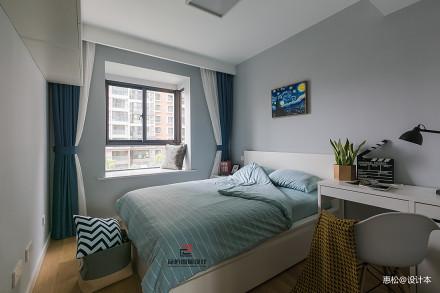典雅110平北欧三居卧室图片欣赏卧室