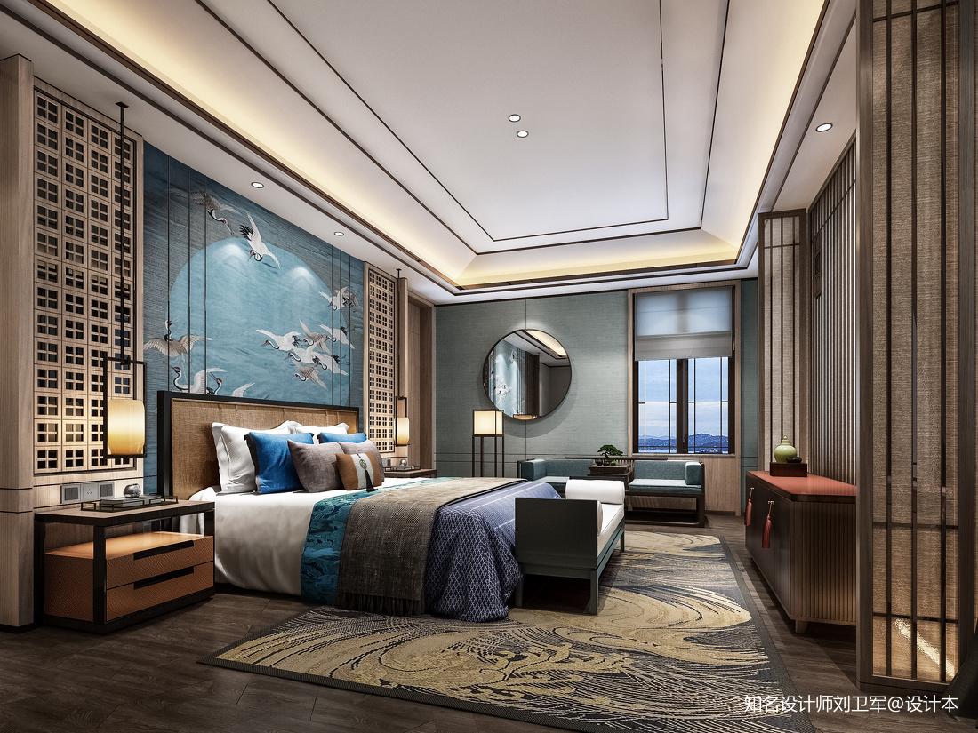 主卧室地毯客厅中式现代客厅设计图片赏析