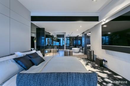 平现代别墅卧室装修设计图卧室