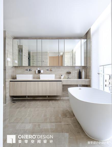 精致55平简欧复式卫生间实景图片卫生间
