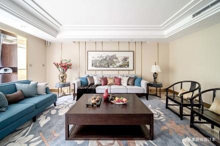 华丽230平中式三居客厅装修图片三居中式现代家装装修案例效果图
