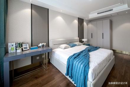 轻奢113平中式三居卧室装修案例卧室