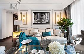 悠雅76平美式三居客厅装饰图三居美式经典家装装修案例效果图
