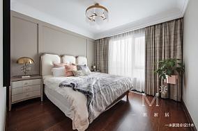 明亮113平美式三居卧室装修图片三居美式经典家装装修案例效果图