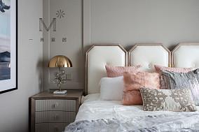 典雅84平美式三居装潢图家装装修案例效果图