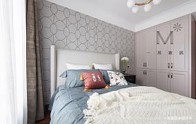 温馨72平美式三居设计图三居美式经典家装装修案例效果图