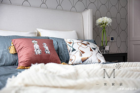 轻奢117平美式三居装修案例家装装修案例效果图