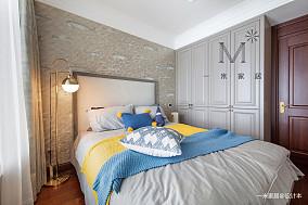 轻奢87平美式三居设计效果图三居美式经典家装装修案例效果图