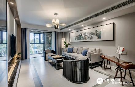 平中式三居客厅效果图客厅