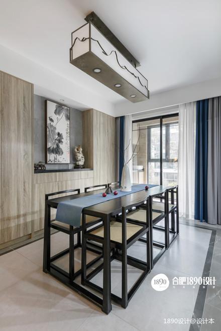 浪漫88平中式三居餐厅设计案例厨房