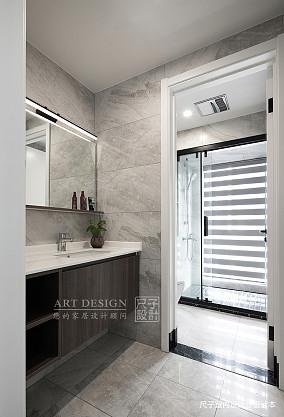 向往的生活四居住宅美式风格卫浴装饰设计图卫生间设计图片赏析