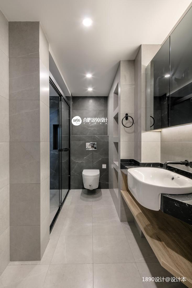 三居中式风格卫生间背景墙美图