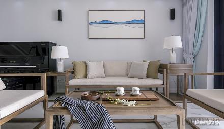 轻奢102平混搭三居客厅效果图欣赏三居潮流混搭家装装修案例效果图