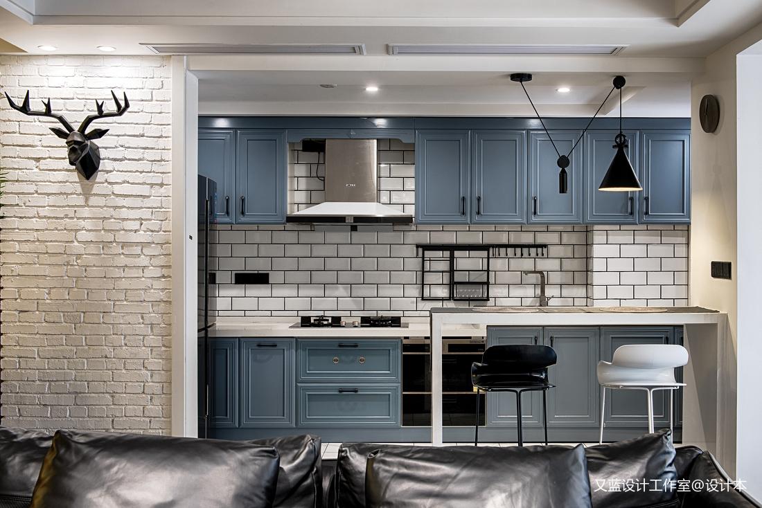 典雅68平混搭复式厨房效果图欣赏餐厅潮流混搭厨房设计图片赏析