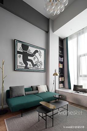 典雅31平现代小户型客厅装修效果图