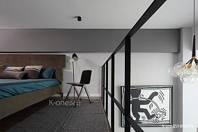 大气33平现代小户型卧室实景图片