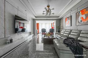 大气71平混搭复式客厅装饰图