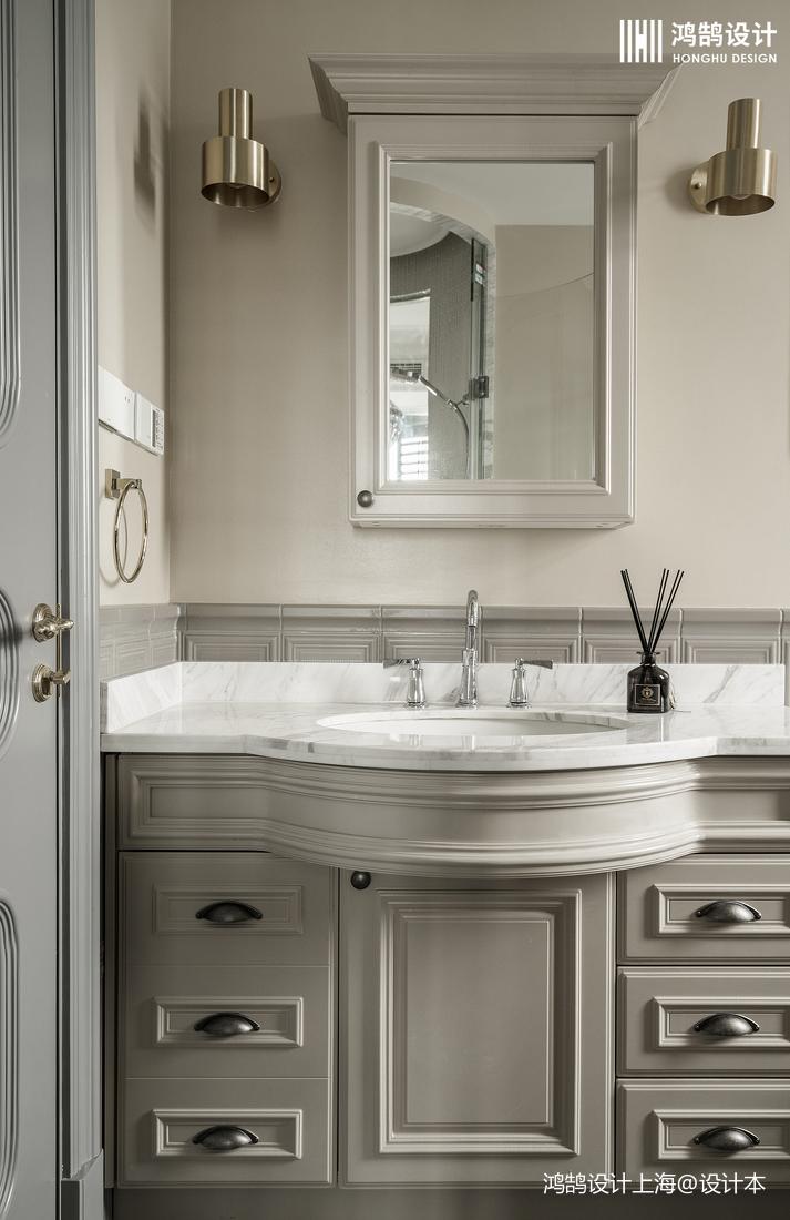 悠雅148平法式四居卫生间效果图欣赏卫生间欧式豪华卫生间设计图片赏析