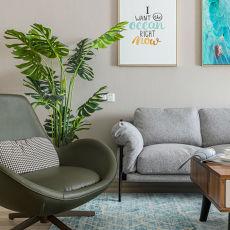 质朴96平欧式三居客厅装修美图