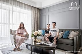 温馨79平美式三居客厅装修设计图三居美式经典家装装修案例效果图