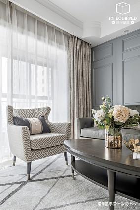 悠雅94平美式三居客厅装饰图三居美式经典家装装修案例效果图