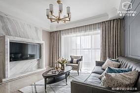 典雅126平美式三居客厅图片欣赏三居美式经典家装装修案例效果图