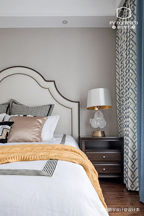轻奢102平美式三居卧室装修效果图三居美式经典家装装修案例效果图