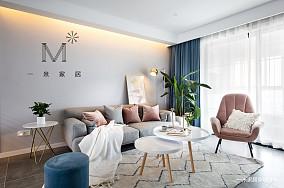 平北欧二居客厅装饰图片二居北欧极简家装装修案例效果图