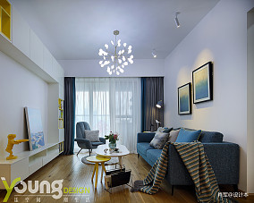 轻奢89平北欧三居客厅装修效果图