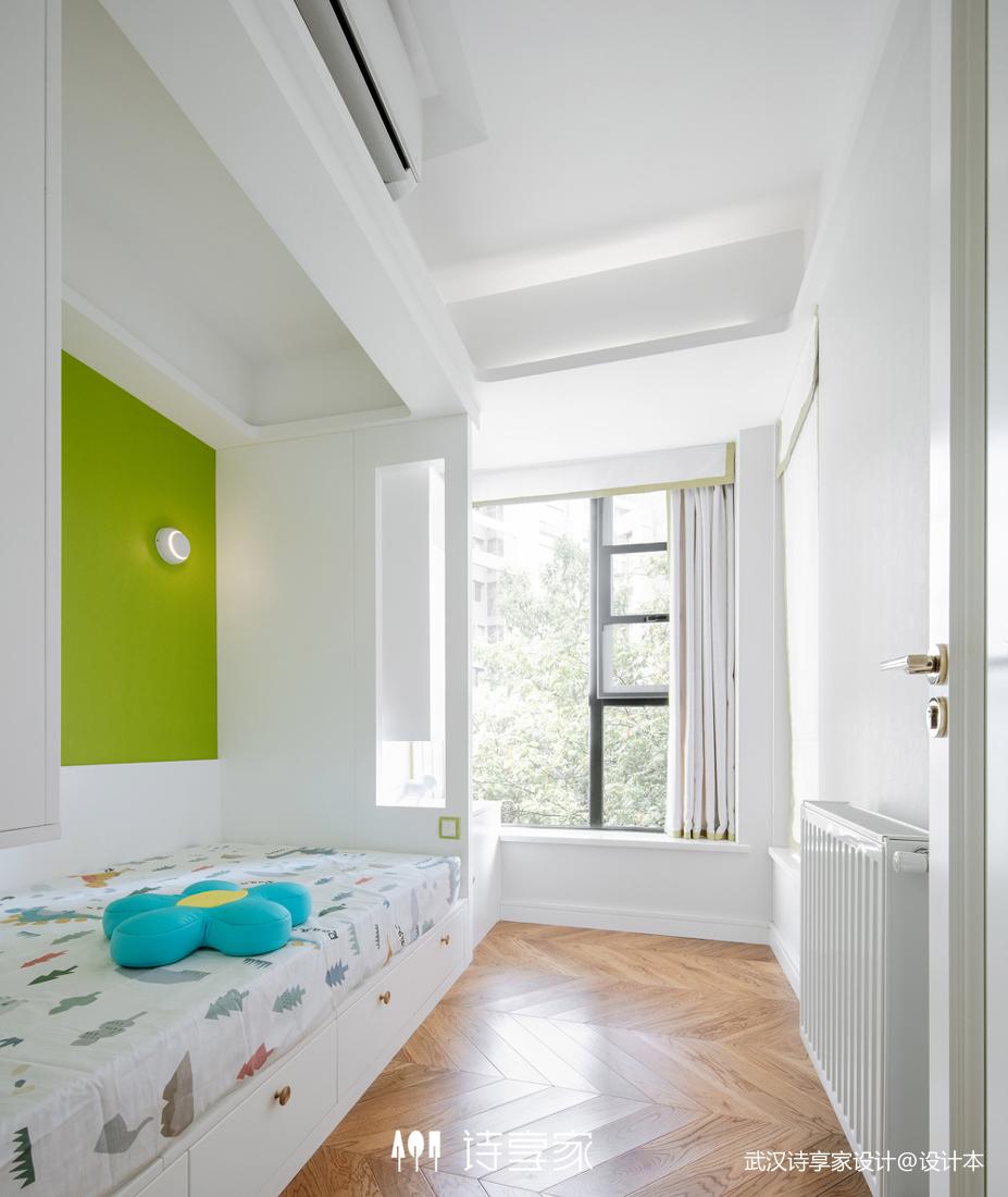 现代风打通两套三居室儿童房榻榻米设计图卧室现代简约卧室设计图片赏析