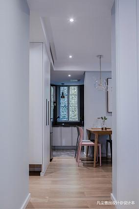 简洁35平简约小户型餐厅效果图一居现代简约家装装修案例效果图