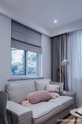 浪漫32平简约小户型客厅设计案例